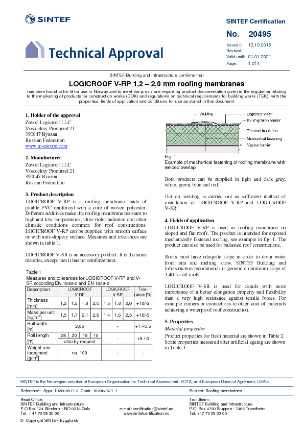 LOGICROOF V-RP Approval (ENG)
