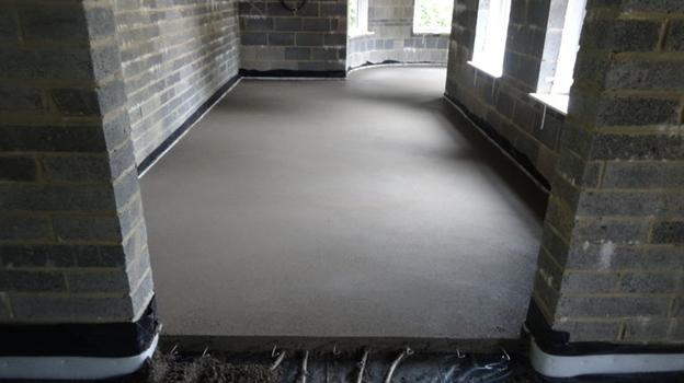 выравнивающий слой цементного раствора